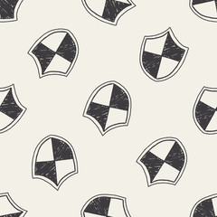 Doodle Protect seamless pattern background