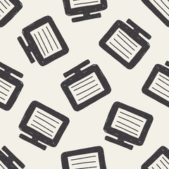 Doodle Computer seamless pattern background
