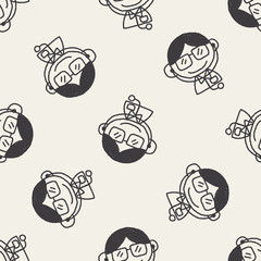 Doodle Doctor seamless pattern background