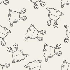 Doodle Alien seamless pattern background
