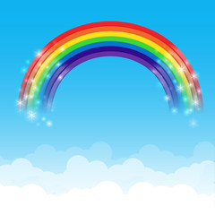Rainbow cloud and sky background 002