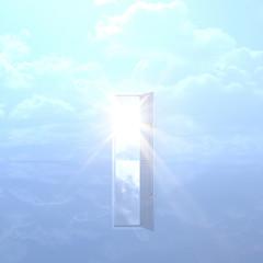 青空とドア