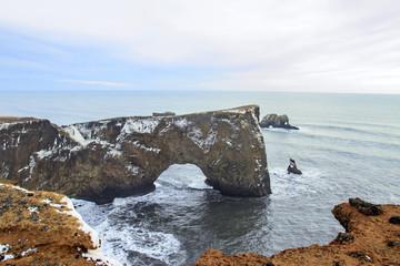 Islanda: scogliera sul mare