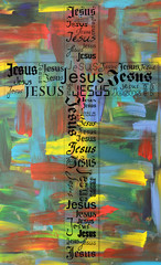 A cross from the name of Jesus