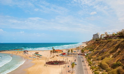 Sea View Beach Sironit in Netanya in Israel