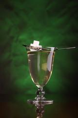 Glass of absinthe