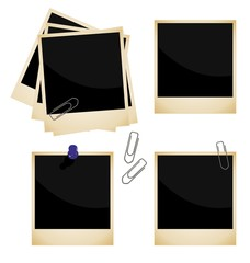 Realistic illustration of set a photo frame - vector