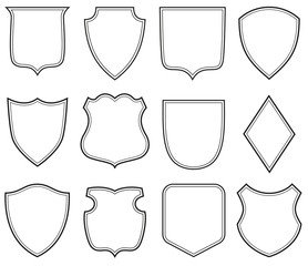 Collection of heraldic shield shapes