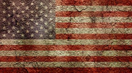 Dirty USA flag