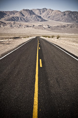 Empty Road in the Death Valley National Park