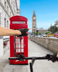 London in bicycle