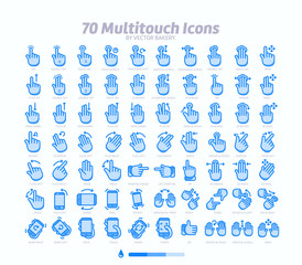70 multitouch gesture icon