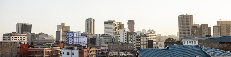 Printed kitchen splashbacks Africa panorama of Nairobi, Kenya