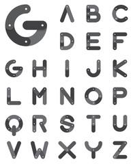 Chain alphabet in flat design . Vector. Illustration.