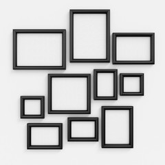 Empty black frameworks
