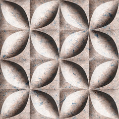 Abstract paneling pattern - seamless background - paper texture
