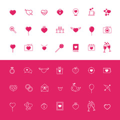 Love and Hearts Icon Set