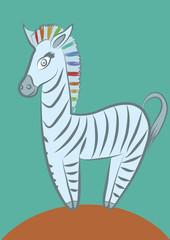 Веселая зебра