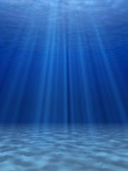 Poster Mer / Ocean Blue sea underwater.