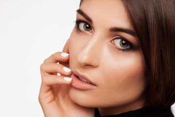 Beauty woman face,lips,eyes