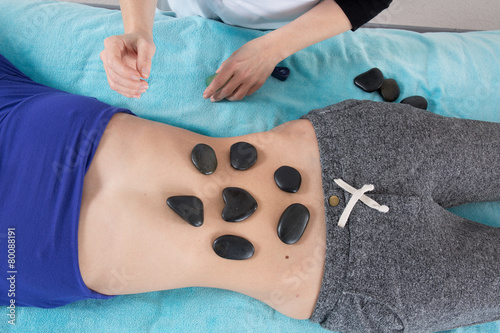 Adult hot stone massage