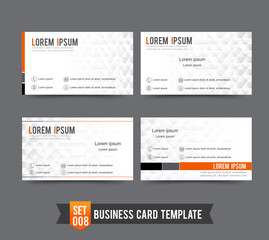 Business Card template set  008 Clear and minimal design