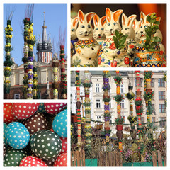 Easter traditions in Krakow ( Poland ) - collage