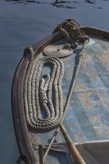 Détail vieux bateau de pêche en croatie
