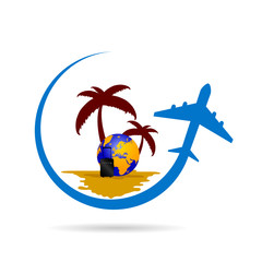 travel tropic color vector