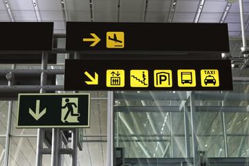 Signals at an airport