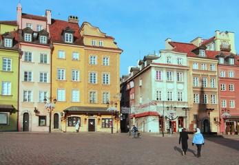 Foto op Plexiglas Panoramafoto s central area of Warsaw