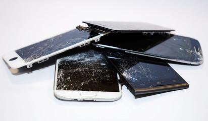 Smartphone Displayschaden Display kaputt