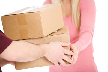 Shipping: Anonymous Woman Receives Packages