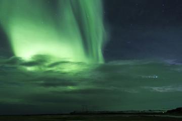 Islanda: l'aurora boreale, luci nella notte