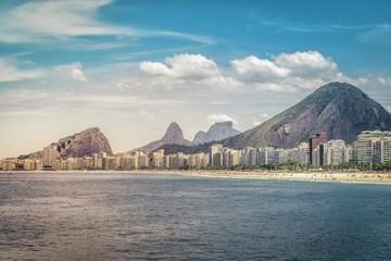 Sunny day on Copacabana Beach in Rio de Janeiro