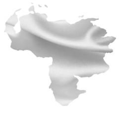 ベネズエラ 地図 シルク