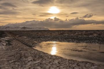 Islanda: stagno ghiacciato