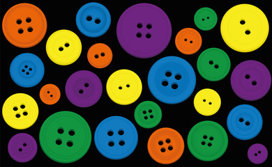 Buttons Colors Black Background