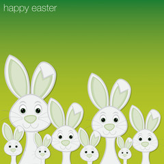 White Easter bunny card in vector format.