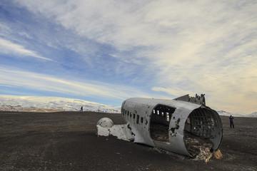 il relitto aereo precipitato in Islanda, a  Sólheimasandur