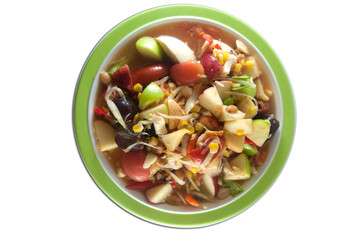 Mixed fruit spicy salad, Thai style