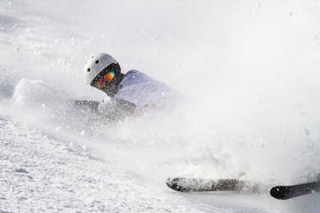 caduta con gli sci