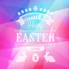 Happy Easter Typographical Poster