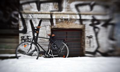 Bike in Berlin during winter