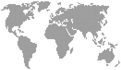 Weltkarte aus Punkten / Kreisen