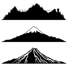 Vector set. Mountain.