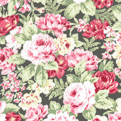 red rose vintage on fabric background