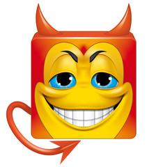 Square emoticon devil