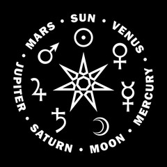 «Septener». The Ancient Star of Babylonian magicians. Seven classical planets of Astrology.