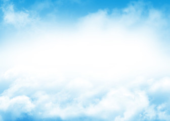 Blue sky and clouds abstract background